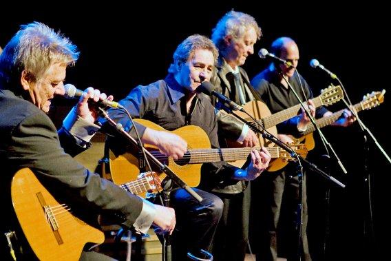 Jean-Guy Moreau, Claude Gauthier, Pierre Létourneau et Pierre Calvé présenteront leur spectacle dans une trentaine de villes au Québec. (Photo: André Pichette, La Presse)