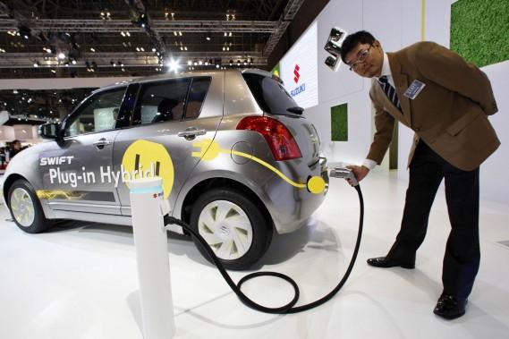La Suzuki Swift hybride rechargeable.