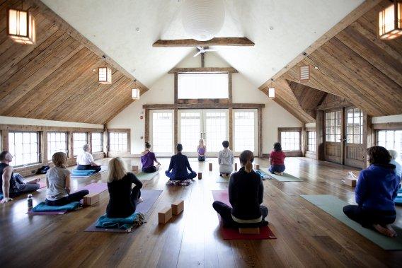 L'auberge Bedford Post Inn à Bedford. Le centre de yoga (Marco Campanozzi, La Presse)