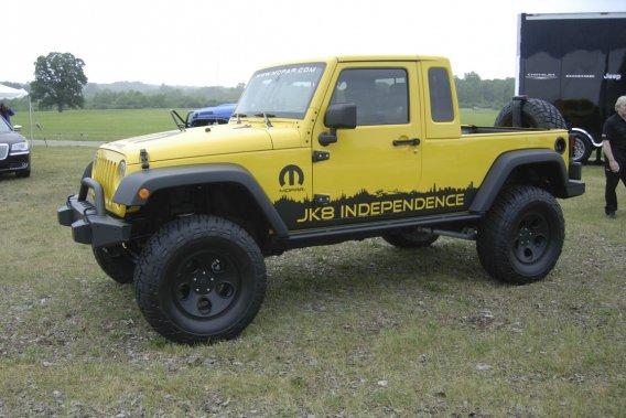 Selon les représentants des pièces Mopar de Chrysler, il sera possible de reproduire ce pick-up à partir du Jeep Unlimited.