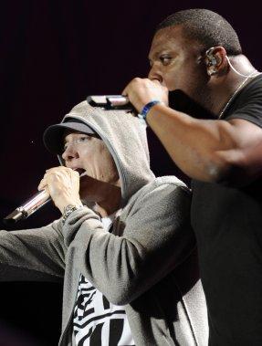 Eminem - Spectacle du 29 juillet 2011 (Photo: Bernard Brault, La Presse)
