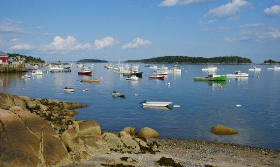 Située entre le Parc national Acadia et Camden, sur la midcoast du Maine, l'île au haut abrite un port de pêche très actif et quelques résidences secondaires. (Hugo de Grandpré, La Presse)