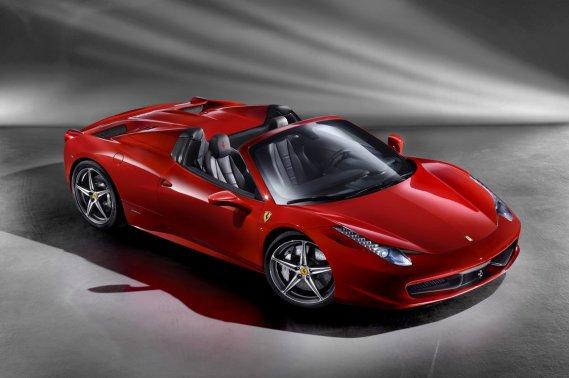 Le Spider Ferrari 458 qui sera dévoilé au Salon de Francfort au début de septembre.