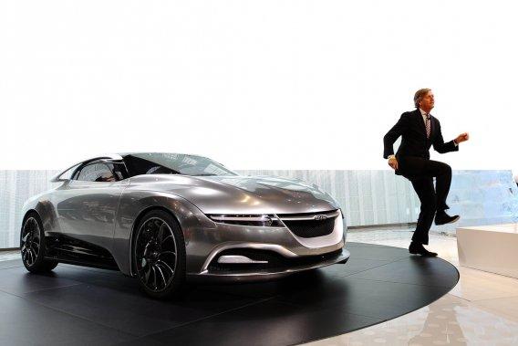 Victor Muller avait le pied dansant à la présentation du concept PhoeniX au Salon de l'auto de New York, en avril dernier.