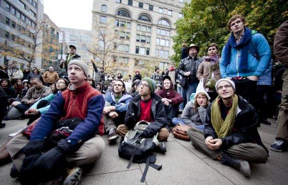 Les manifestants semblent déterminés à demeurer sur place. (Photo: Marco Campanozzi)