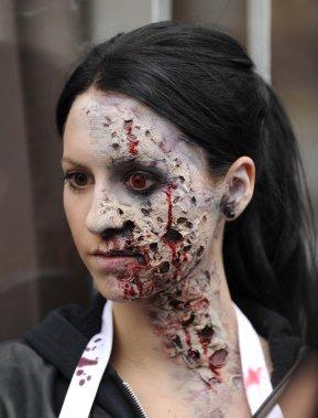 maquillage zombie gruau