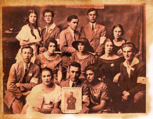 Réunion de groupe du Jewish National Fund à Montréal, vers 1920 (Archives de la Bibliothèque publique juive de Montréal)