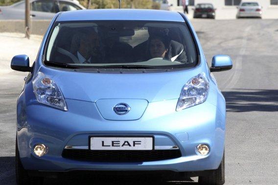 La Leaf électrique de Nissan.
