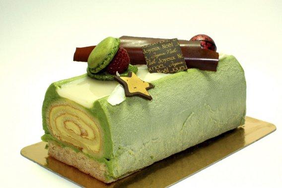 Bûche Yuki, chez Fous desserts (Marion Frossard, fournie par Fous Desserts)