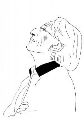Richard Desjardins (Illustration: Johan Batier, La Presse)