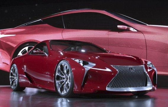 Le concept Lexus LF-LC, exposé au Salon de l'auto de Detroit.