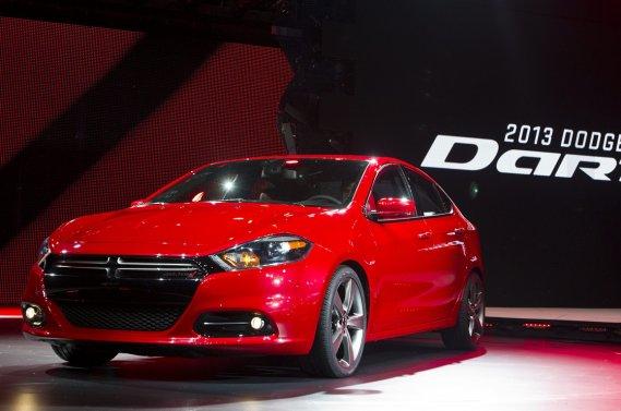 La Dodge Dart, qui est en fait une Alfa Romeo Giulietta déguisée en Chrysler.