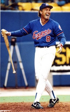 Gary Carter avec les Expos en 1992. (Bernard Brault, La Presse)