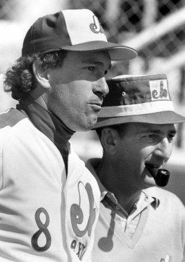 Gary Carter et le propriétaire des Expos, Charles Bronfman, en 1984. (archives La Presse)