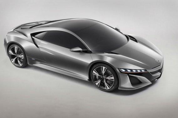 La nouvelle NSX hybride de Honda, qui sera dévoilée au Salon de Genève.