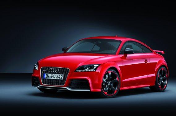 L'Audi TT RS Plus, qui sera dévoilée au prochain Salon de Genève.