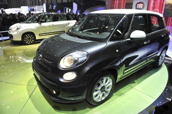 La Fiat 500L, dévoilée au salon de Genève, sera commercialisée à la fois en Europe qu'en Amérique du Nord.