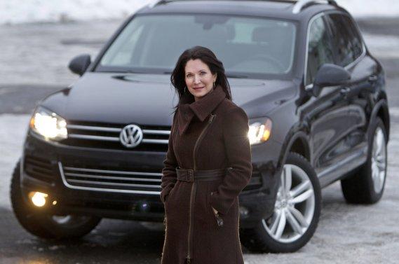 Véronique Blain fait chaque année son pèlerinage au salon de l'auto.