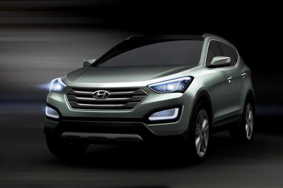 Le nouveau Hyundai Santa Fe 2013 sera présenté au prochain Salon de l'auto de New York.