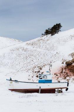 Un bateau attendant le retour de la belle saison. (Photo: Édouard Plante-Fréchette, La Presse)