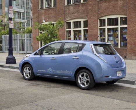 La Nissan Leaf. (Photo Éric LeFrançois, collaboration spéciale)