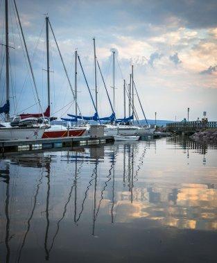 Dans la marina, jusqu'à 95 bateaux sont prêts à larguer les amarres et partir à l'aventure. (Photo Olivier Pontbriand, La Presse)