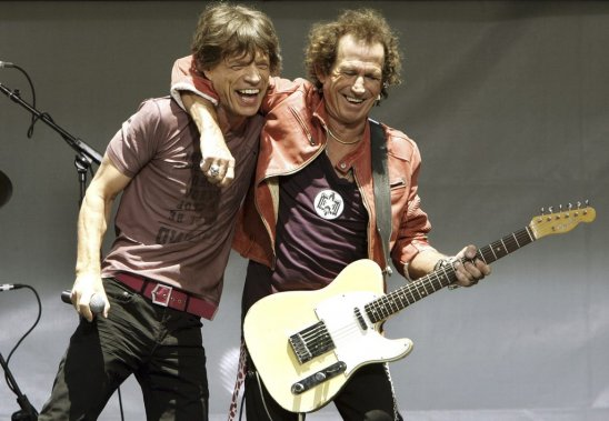 Mick Jagger et Keith Richards en mai 2005. (Photo: AFP)