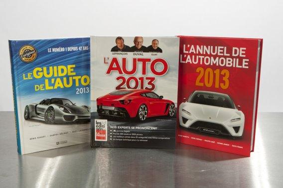 Les trois références habituelles des amateurs d'automobile, Le guide de l'auto, L'auto 2013 et L'annuel de l'auto sont déjà en librairie.
