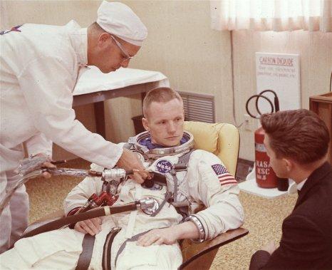En 1966, au Kennedy Space Center. (PHOTOS ARCHIVES AP)