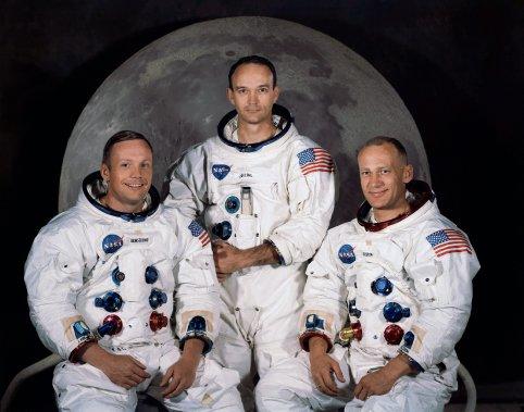 Les trois membres de la mission Apollo 11: Neil Armstrong, Michael Collins et Buzz Aldrin. (PHOTO ARCHIVES AP -- NASA)