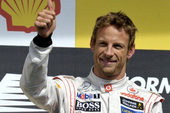 Parti de la pole position, Jenson Button a fait une course parfaite, de bout en  bout, et a bien géré ses pneus, ne faisant qu'un seul arrêt aux puits.