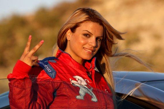 Betty Saadeh, 31 ans, vient d'une famille de pilotes  automobiles.