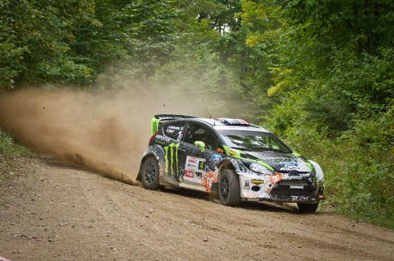 Ken Block au Rallye Défi de Sainte-Agathe. (Photo fournie par Monster World Rally Team)