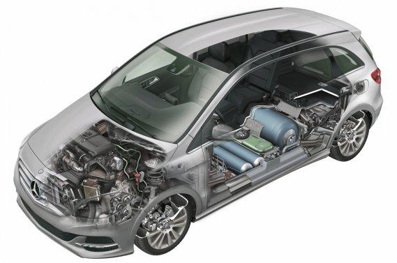 Mercedes-Benz va dévoiler une version au gaz naturel de sa compacte B200 au prochain Mondial de l'automobile de Paris à la fin du mois.