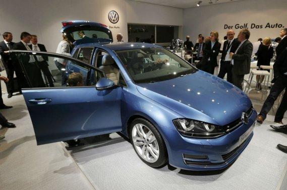 La Volkswagen Golf lors de son dévoilement en avant-première, à Berlin, le 4 septembre.