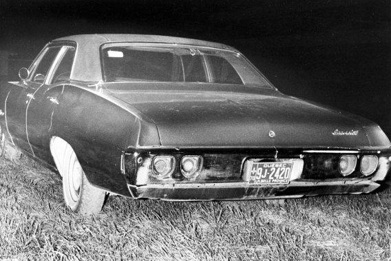 La Chevrolet Biscayne 1968 dans laquelle le corps de Pierre Laporte fut découvert.