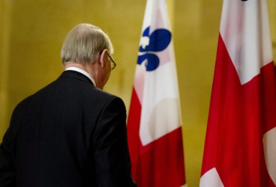 Avec ce départ, Gérald Tremblay laisse derrière lui de grands défis montréalais. (Phtoo Graham Hughes, La Presse Canadienne)