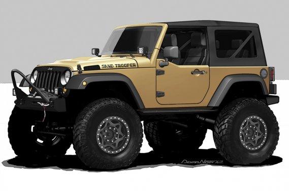 SEMA Jeep Sand Trooper: le prototype présenté par Jeep au salon SEMA est équipé de pièces Mopar.