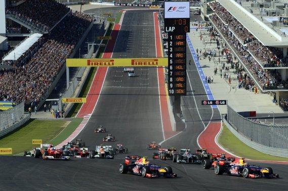 Le départ du Grand Prix des États-Unis, qui a connu un beau succès, de moins dans l'affluence sur place, à Austin.