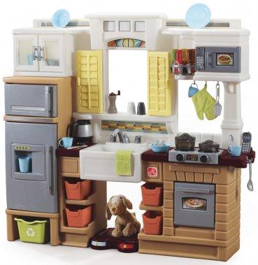 Cuisinette Creative Cooks, par Step2. 239,99$ (chien non compris). De 2 à 7 ans. 44,2 sur 42,2 sur 16,2 po. www.step2.com ()