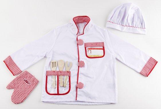 Costume de chef, par Melissa&Doug. 29,99$. De 3 à 6 ans.Service@MelissaAndDoug.com ()