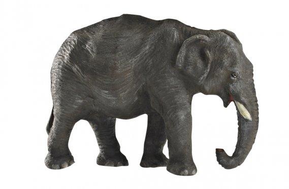 La majorité des jouets du Musée McCord a été donnée par des particuliers. Éléphants, rhinocéros, girafes, singes: tous les animaux jouets de l'expo proviennent de la collection de 525 figurines du même donateur, l'ancien juge Montgomery de la Cour d'appel du Québec de 1957 à 1987. (Photo: fournie par le Musée McCord)