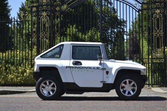 Le Prindiville Electric, petit véhicule électrique qui emprunte ses lignes au défunt Hummer.