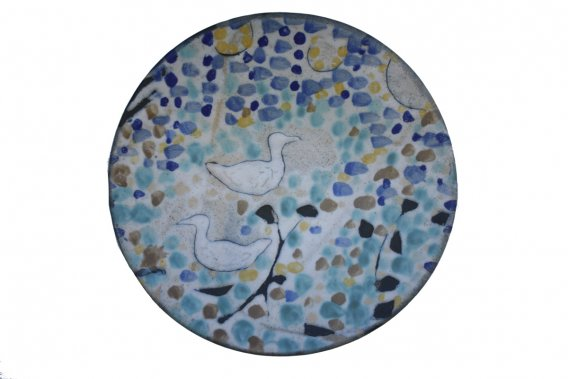 Assiette en céramique de Patrick LeBlond, céramiste (stand 704) ()