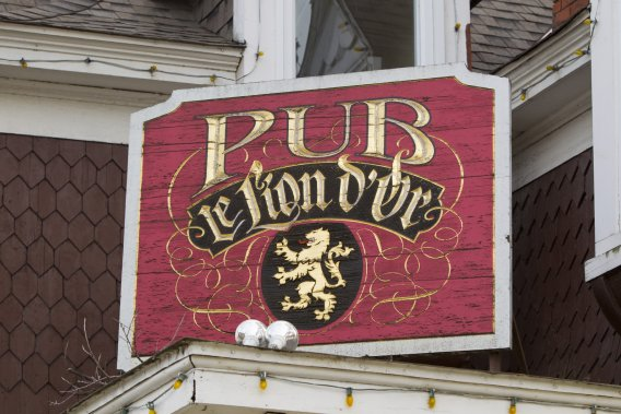 Le Golden Lion's Pub est un repaire pour les étudiants de l'Université Bishop's. (Photo: Alain Roberge, La Presse)