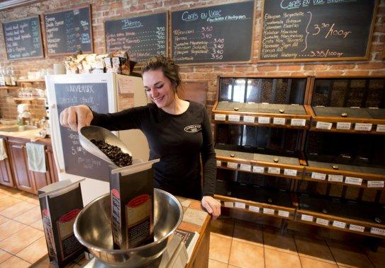 On trouve une ambiance sympathique à la Brûlerie de café de Lennox. (Photo: Alain Roberge, La Presse)