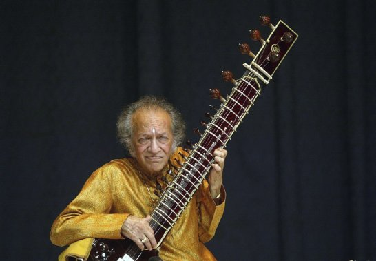 Ravi Shankar lors d'un concert à New Delhi en mars 2006. (Photo: PC)