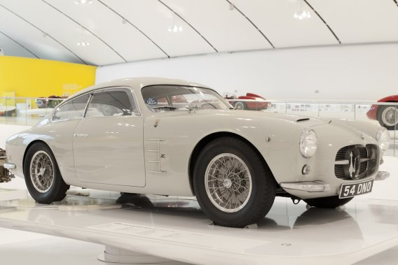 MASERATI A6 GCS/53 1956 (collection privée) - Construite à 60 exemplaires, dont 20 pour la compétition avec carrosserie Zagato, cette A6 témoigne d'un succès commercial assez rare pour ce type de voiture dans les années 50. (Photo fournie par le Musée Casa Enzo Ferrari)