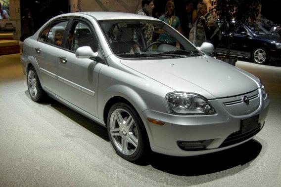 La petite berline Coda électrique telle que présentée au récent Salon de l'auto de Los Angeles.