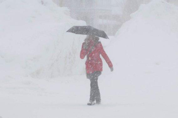 La Mauricie devrait recevoir une trentaine de centimètres de neige vendredi. (Photo: Sylvain Mayer)